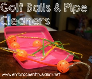 Gold Balls and Pipe Cleaners
