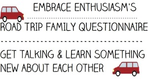 Road Trip Family Questionnaire
