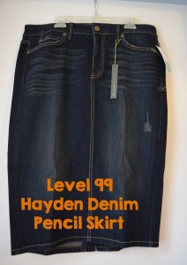 Level 99 Hayden Denim Pencil Skirt