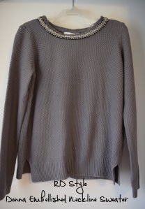 RD Donna Embellished Neckline Sweater- Stitch Fix