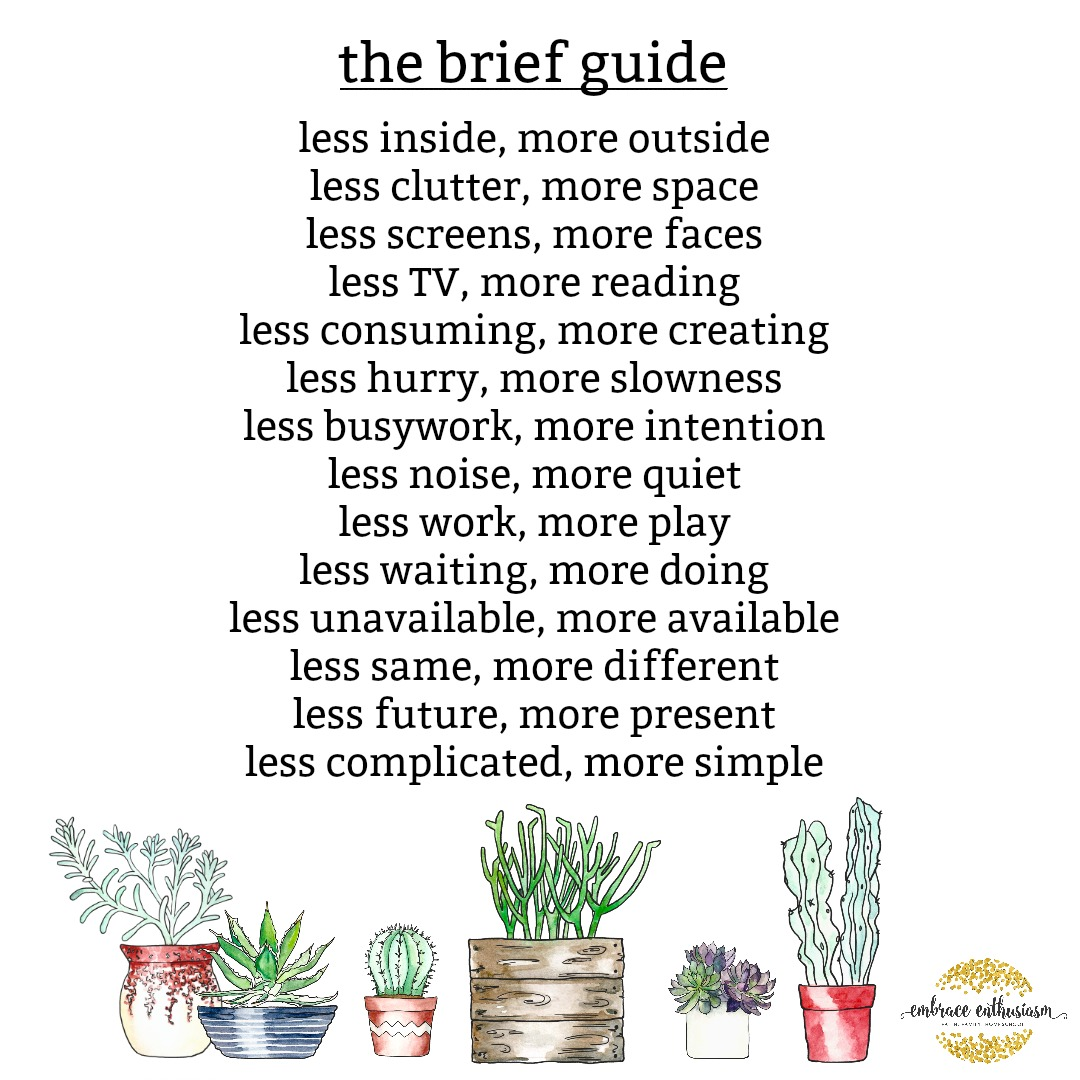 The Brief Guide for Summer Living